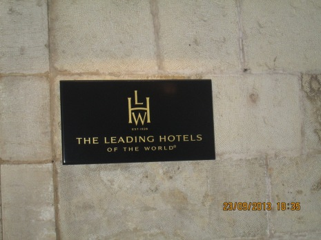 The Hotel where we dined together