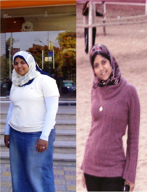 Me at 110 Kilos and then at a low weight