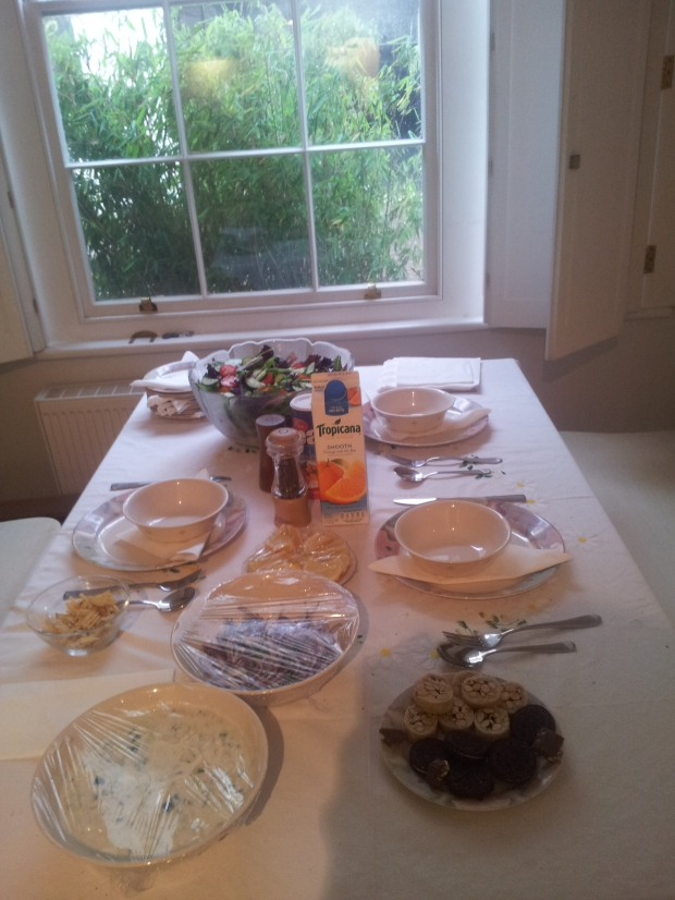 Just an Example of a Buffet Table- Scan the Table and then select your Food
