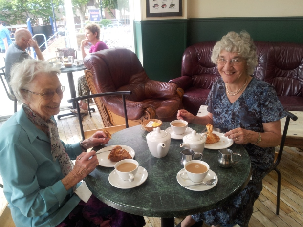 Ailsa Moore (Left) and Mary Holdstock (Right in Blue, My Guardian Angel) . Thank you Mary