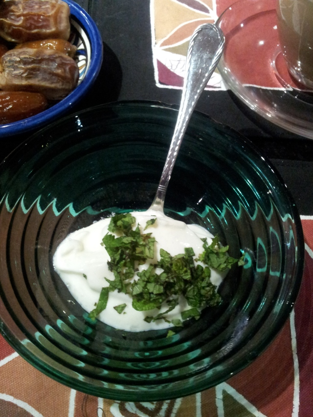 Starting Your Meal with  Yogurt and Fresh Mint
