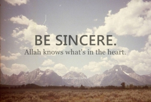 Be sincere