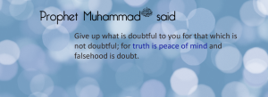 saying of prophet muhammad-truth